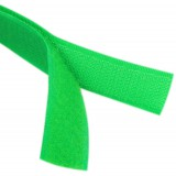 Липучка для одежды 2,5см зелёная *25