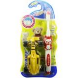 Зубная щетка детская д/мальч. + машинка(мягкая) 9318/ 0029*12 3015