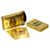 Карты игральные колода 54шт Золот.цв. Доллар *100