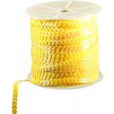 Пайетки на бобине желтый 90м