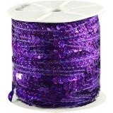 Пайетки на бобине фиолет 90м