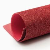 Фоамиран блестящий (прод по 10) красный 20х30/2мм