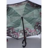 Зонт двойной трость полуавтомат (8спиц)