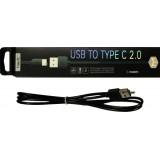 Кабель HAVIT HV-CB8701 USB2.0 A вилка-Туре С 2,0 вилка,длина 1м, чер.. (1/100)  9507 (шт.) $