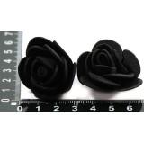 Цветочки из фоамирана (пакет) черный