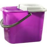 Ведро 16л с отжимом фиолетовый 0218*10