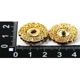 Кнопка потайная декор d21мм золото (прод по 50)