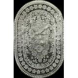 Салфетка винил овал 30*45см серебро (продавать по 12) 764-10