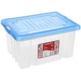 Ящик с крышкой 18л синий 0034