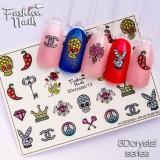 Наклейки на ногти 3D Crystal  №13