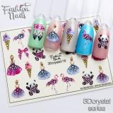 Наклейки на ногти 3D Crystal  №16