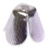 Держатель -ограничитель бусин BP060 серебро(уп.100шт)