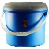 Ведро 15л с крышкой синее 0096