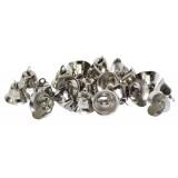 Колокольчики декоротивные метал.(уп.100шт) d 16мм серебро