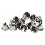 Колокольчики декоротивные метал.(уп.100шт) d 18мм серебро