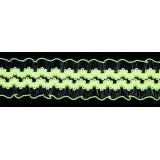 Резинка ажурная декоративная (уп.50ярд) шир.23мм салатовый неоновый