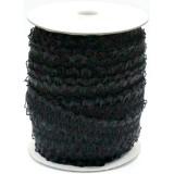 Резинка ажурная декоративная (уп.50ярд) шир.23мм черный