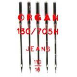 Иглы ORGAN д/швей.машин джинсовые 5/110(упак.5шт)