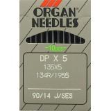 Иглы ORGAN д/швей.машин  DP*5/90 SES(упак.10шт)