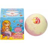 Бурлящий шар д/ванны детский с игрушкой для девочек130г*16  8283
