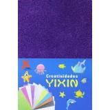 Фоамиран блестящий (прод по 10) фиолет 20х30/2мм