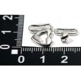 Застежка для купальников(уп.20пар) HY-19/17*11 мм в/р 9мм