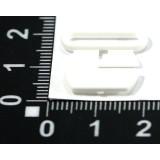 Застежка из 2-х частей пластм.для бюст.XZD шир.15 мм бел.(прод по 20)