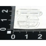 Застежка из 2-х частей пластм.для бюст.XZD шир.15 мм прозр.(прод по 20)