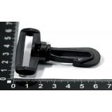 Карабин пластмассовый 38мм черный*200