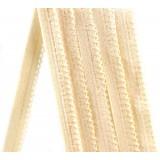 Резинка ажурная арт3001-08 шир.8мм  бежевая (20м)