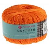 Пряжа Ажурная 0,5кг (10штх50гр*280м 100%хлопок) желто-оранжевый