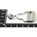 Карабин для комбинезонов ш.25мм серебро*20