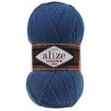 Пряжа Lanagold fine 0,5кг (5штх100гр*390м 49% шерсть,51% акрил) №155 синий