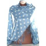 Платок Горох D920 16 голуб 90*90 100%шерсть