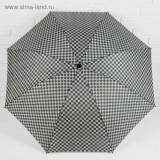 Зонт 2825181 механический «Клетка» прорезиненная ручка 4 сложения 8 спиц R = 50