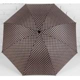 Зонт 2825182 механический «Клетка» прорезиненная ручка 4 сложения 8 спиц R = 50