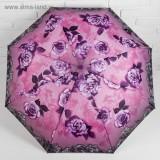 Зонт 2825810 полуавтоматический «Розы» 3 сложения 8 спиц R = 50 см цвет