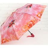 Зонт 2825812 полуавтоматический «Розы» 3 сложения 8 спиц R = 49 см цвет