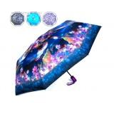 Зонт 4881156 полуавтомат. 3 сложения 8 спиц R = 48 см цвет МИКС 2149