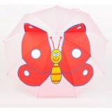 Зонт 911376 детский «Весёлая бабочка» механический с крыльями r=35см цвет розовый