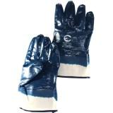 Перчатки маслобензостойк.Intertool Краги 3-х слойные синие р10,5 (прод по 12) (шт) $