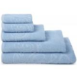 Полотенце салфетка 401-04353 (30х30) *15 цв.15-4105 голубой