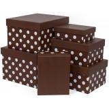 Коробка подар. 6в1 250*250*150 темный-шоколад 7319/7302