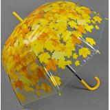 Зонт 1217320 «Листопад» трость полуавтомат 8 спиц R = 42,5 см цвет желтый