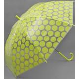 Зонт 1768309 «Круги» трость полуавтомат 8 спиц R57см салат