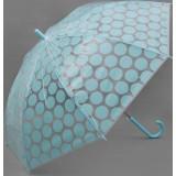 Зонт 1768311 «Круги» трость полуавтомат 8 спиц R57см голубой