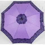 Зонт 3090048 трость полуавтоматический «Завитушки» 8 спиц фиолет/черный