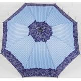 Зонт 3090051 трость полуавтоматический «Завитушки» 8 спиц голубой/синий