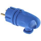 Вилка В16-002 УХЛ4 каучук синяя с кольцом*100 7882