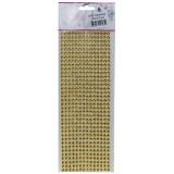 Стразы декоративные (504шт) SF-3177 золото